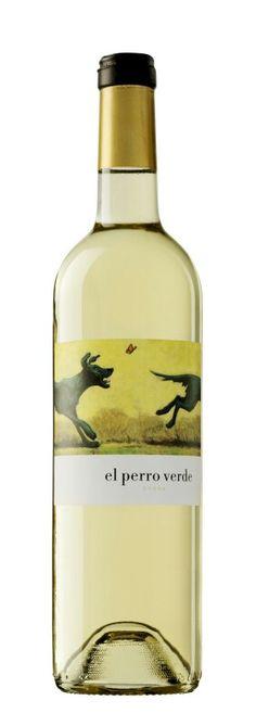 """El perro verde.Vino blanco elaborado con la variedad""""Verdejo"""".D.O.Rueda (Valladolid-España)"""