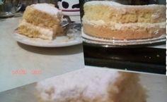 Pastel con crema pastelera de arroz  Un postre muy sencillo pero muy rico para disfrutar con un cafecito en un día de frío.