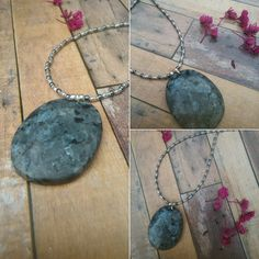 Labradorite and sterling silver necklace by BeadCaveMk3 on Etsy
