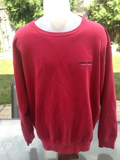 Vintage Red Polo Sport Sweater by MajorDivision on Etsy https://www.etsy.com/listing/242084756/vintage-red-polo-sport-sweater