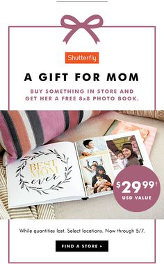 A GIFT FOR MOM   $29.99† USD VALUE   FIND A STORE