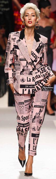 Celebrity style I Catwalk I Moschino I Image Fashion, Fashion Art, Womens Fashion, Fashion Tips, Fashion Design, Pink Fashion, Couture Fashion, Runway Fashion, Moschino