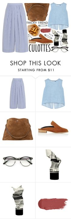 """Tricky Trend"" by katerin4e-d ❤ liked on Polyvore featuring J.Crew, Steve J & Yoni P, CÉLINE, Robert Clergerie, Aesop, TrickyTrend, contestentry, fashionset, polyvorecontest and culottes"
