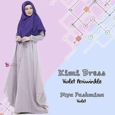 Gamis House Of Valisha Kimi Dress Violet Periwinkle - baju gamis wanita busana muslim Untukmu yg cantik syari dan trendy . . Detail ukuran: (XS) LD 90 PB 135 (S) LD 94 PB 137 (M) LD 100 PB 140 (L) LD 104 PB 142 (XL) LD 108 PB 145 . . - Keliling rok 25 m - Banyaknya penggunaan bahan untuk 1 dress: 36 m - Bahan: Platinum Linen Look mix Kain Cindy Motif Nyaman dipakai seharian Bahan linen look yang digunakan adalah linen kualitas no.1 bahannya SUPER ADEM dan nyaman dipakai seharian.. . Bentuk…