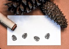 Pinecone Rubber Stamp by norajane on Etsy https://www.etsy.com/listing/62873034/pinecone-rubber-stamp