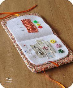 Sewing kit ideas needle book 27 New ideas Felt Crafts, Fabric Crafts, Sewing Crafts, Sewing Projects, Sewing Hacks, Sewing Tutorials, Sewing Patterns, Sewing Kits, Tatting Patterns