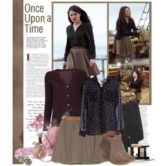 """Belle ~ Once Upon a Time"" by kamilla-barbara on Polyvore"