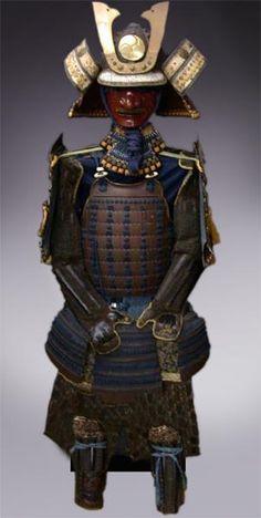 Кожаный доспех японского самурая