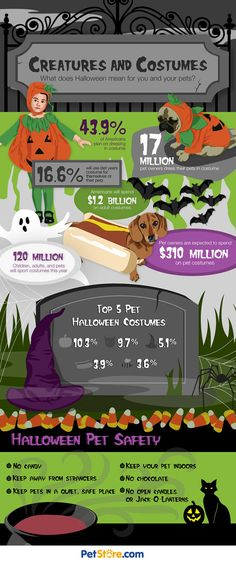 Don't Forget Your Four-legged Friends on Halloween #caninecommunityreporters #wccrtv #pamppllc #caninemarketing #petinfographics #doginfographics #dogs