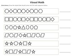 math worksheet : 1000 images about math  patterns on pinterest  math patterns  : Math Pattern Worksheet