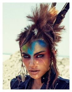 Wild Warrior Editorials : Vogue Netherlands May 2012