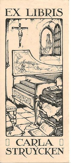 ex libris made by Anton Pieck