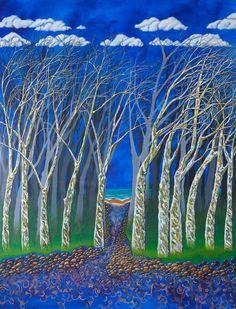 Debbie Fedrick, Acrylic paintings for sale. Paintings For Sale, Landscape Paintings, Earth, Night, Artwork, Nature, Inspiration, Biblical Inspiration, Work Of Art