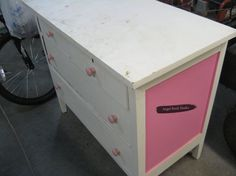 Hi everyone! The hubby and I recently dug a dresser out of storage that was previously painted for our oldest daughter-complete with dirt, spiders, and an autog…