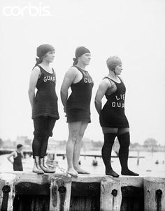These are what vintage beach lifeguards looked like in the past. Women lifeguard team at Venice beach, Los Angeles in the A f. Beach Lifeguard, Baywatch, Swimming Costume, Bathing Beauties, Venice Beach, Life Savers, Role Models, Brighton, Old School