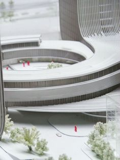 "Image 1 of 29 from gallery of ""Fangda Business Headquarters"" Winning Entry / Huasen Architects. Courtesy of Huasen Architects Architecture Model Making, Concept Architecture, Architecture Drawings, Futuristic Architecture, Architecture Details, Interior Architecture, China Architecture, Planer Layout, Arch Model"