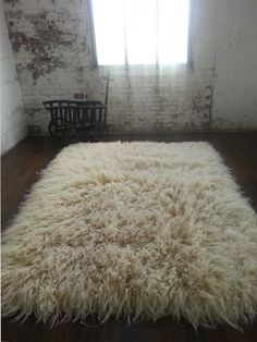 Flokati Wool Rug Trendy 6000 gram long pile flokati rug exclusively at :www. White Flokati, Decor, Viking Decor, Flotaki Rug, Flokati Rug, Rugs, Ceramic Floor, Home Decor, Decorate Your Room