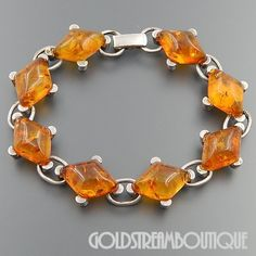 Metal: Silver Metal Purity: Hallmark: 925 Wearable Length ( inches ): 8 Width ( inches / mm ): / Weight ( gram ): Condition: Vintage PLEASE BE ADVISED: We sell vintage pre-owned and Amber Jewelry, Gems Jewelry, Sea Glass Jewelry, Cute Jewelry, Unique Jewelry, Weird Jewelry, Jewellery, Silver Bracelets, Sterling Silver Necklaces