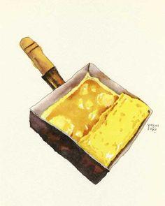 Cafe Food, Food N, Food And Drink, Watercolor Food, Food Painting, Food Icons, Food Journal, Food Drawing, Food Illustrations