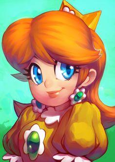Daisy by KoiDrake.deviantart.com on @DeviantArt #mario #nintendo #fanart