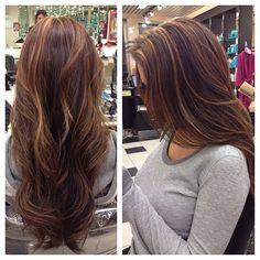 For the brunette client caramel hl