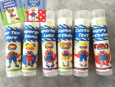 Superhero Party Favors  Set of 6  Superhero Theme  by TwistyTurtle