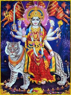 Maa Chandi is the total energy of the universe. By doing Chandi Homam once a year one can become free from evil eyes and get supremacy power to fulfill all desire. Durga Ji, Durga Goddess, Shiva Art, Shiva Shakti, Durga Images, Hanuman Chalisa, Spiritual Images, Radha Krishna Wallpaper, Divine Mother