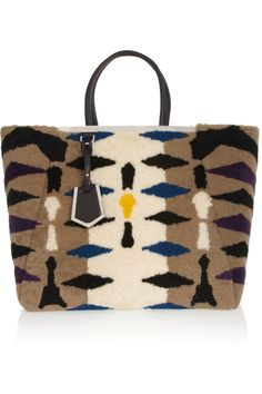 Fendi | 2Jours printed shearling tote | NET-A-PORTER.COM