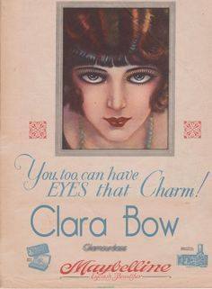 Clara Bow, silent film actress - Maybelline ad