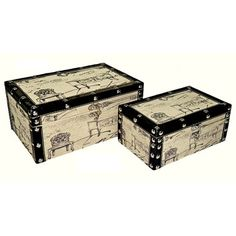 Cheungs Rectangular Box with Sketched Chair (Set of 2)