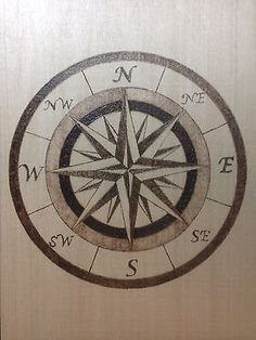 Nautical Compass Pyrography