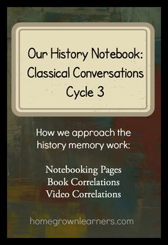 Creating a History Notebook for Classical Conversations Cycle 3