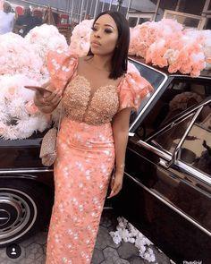 50 Sophisticated and amazing lace styles to rock - Stylish Naija Nigerian Lace Styles, Ankara Long Gown Styles, African Lace Styles, Lace Dress Styles, African Lace Dresses, Latest African Fashion Dresses, African Print Fashion, Ankara Styles, Ankara Gowns