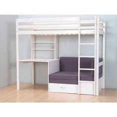 moderne gestaltung in wei und schwarz schlafzimmer pinterest schwarzer hochbetten und. Black Bedroom Furniture Sets. Home Design Ideas