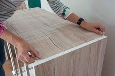 Ikea hack with d-c-fix® Sanremo sand self adhesive film 346-8133 http://www.amazon.co.uk/d-c-fix%C2%AE-Plastic-adhesive-Woodgrain-346-8133/dp/B00O7MNR0W/ref=sr_1_1?s=kitchen&ie=UTF8&qid=1436881000&sr=1-1&keywords=346-8133