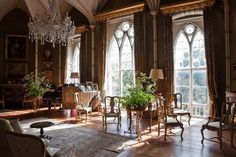 irish country house interiors   Birr Castle
