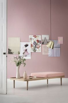 Pantone Colour (s) of the year 2016 - Rose Quartz & Serenity \ Home Decor Interior Pastel, Interior Styling, Modern Interior, Modern Decor, Murs Roses, Deco Pastel, Deco Rose, Living Room Color Schemes, Colour Schemes