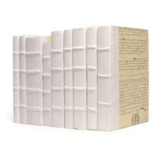 Check out this item at One Kings Lane! Linear Foot Of Solid White Books