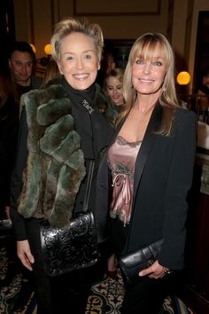 Actors Sharon Stone, left, and Bo Derek attend a Pre-Golden Globe celebration for the film 'Spotlight' on Jan. in Beverly Hills. Imeh Akpanudosen, Getty Images, for Ketel One Sharon Stone Photos, The Beverly, Beverly Hills, Beverly Wilshire, Bo Derek, Tv Guide, Celebs, Celebrities, Golden Globes