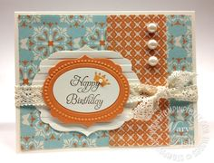 Never  thought I'd want the Labels Collection Framelits Die from Stampin' Up until I saw this card.  Cute!