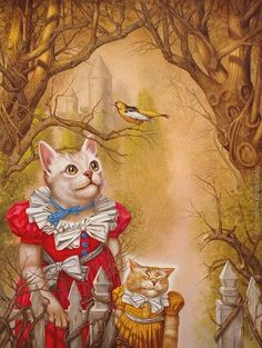 Cats in Art, Illustration, Photography, Decorative Arts, Textiles, Needlework and Design: Royal Animals