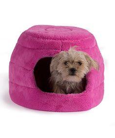 Look at this #zulilyfind! Fuchsia Two-In-One Honeycomb Hut/Cuddler Pet Bed by Best Friends by Sheri #zulilyfinds