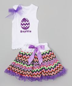 Look what I found on #zulily! Purple Personalized Egg Tank Set - Infant, Toddler & Girls #zulilyfinds