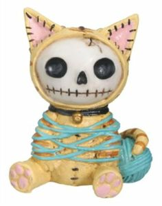 Zombie Cat Furry Bones Figurine