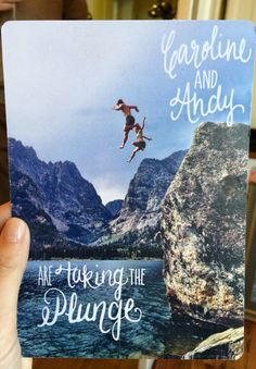 For the active and adventurous couple, a picture from a memorable vacation can be used to make a fun save the date card