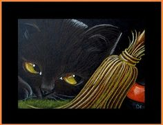 Art: Black Cat 16 - Halloween by Artist Cyra R. Cancel