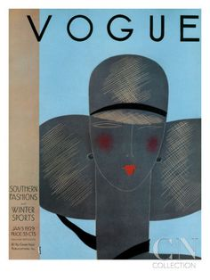 Vogue Cover - January 1929 Poster Print by Eduardo Garcia Benito at the Condé Nast Collection