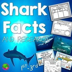 Shark Week! Make Shark Week educational with this shark research packet.  Kids will love learning about sharks!