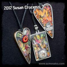 Susan Crozeni mosaic pendants