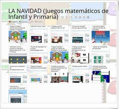 """16 juegos matemáticos de NAVIDAD para Infantil y Primaria"" Online Gratis, Social, Christmas Games, Music And Movement, Interactive Activities"
